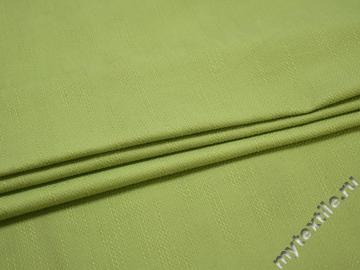 Костюмная зеленая ткань вискоза хлопок ЕВ14