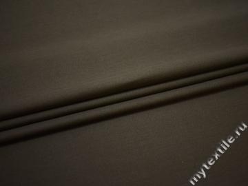 Костюмная коричневая ткань хлопок ЕБ146
