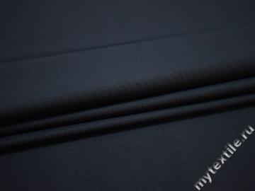 Костюмная синяя ткань полиэстер ЕБ129