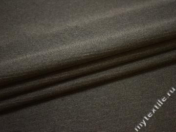 Костюмная серая черная ткань полоска хлопок ЕБ128