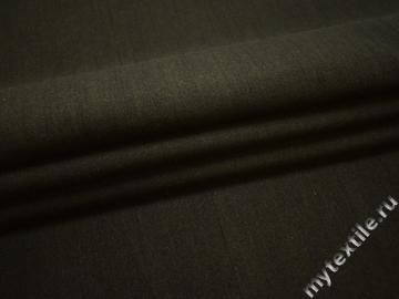 Костюмная цвета хаки ткань хлопок полиэстер ЕБ127