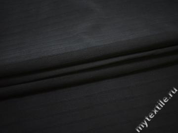 Костюмная темно-синяя фактурная ткань хлопок ЕБ126