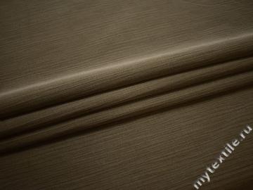 Костюмная цвета хаки фактурная ткань хлопок ЕБ125