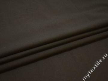Костюмная коричневая ткань полиэстер эластан ЕБ113