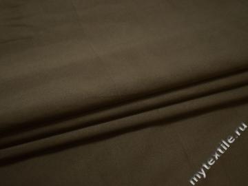 Костюмная цвета хаки ткань хлопок полиэстер эластан ЕБ112