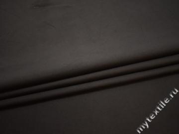 Костюмная коричневая ткань хлопок эластан ЕБ17
