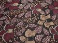 Шифон бордовый черный цветы люрекс полиэстер ЕБ388