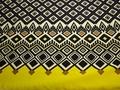 Плательная синяя желтая ткань геометрия полиэстер ЕВ447