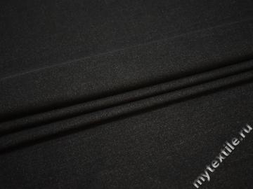 Костюмная черная ткань хлопок эластан ЕА161