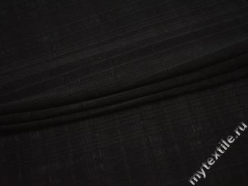 Трикотаж черный вискоза хлопок АЕ341