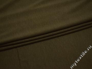 Трикотаж цвета хаки вискоза хлопок АЕ335