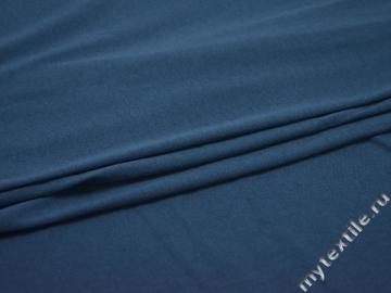 Трикотаж синий хлопок АЕ332