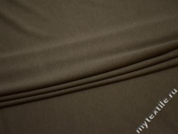 Трикотаж коричневый вискоза хлопок АЕ321