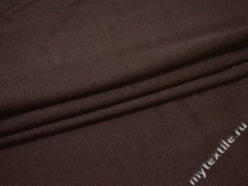 Трикотаж коричневый хлопок вискоза АЕ31