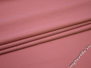 Рубашечная розовая ткань вискоза полиэстер БА7115
