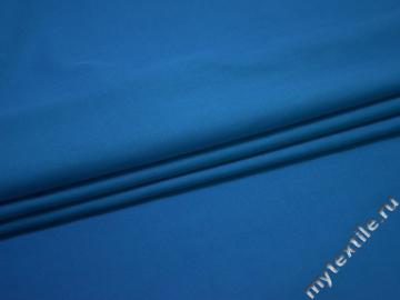 Рубашечная синяя ткань вискоза полиэстер БА797