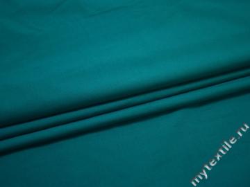 Рубашечная синяя ткань вискоза полиэстер БА7100
