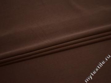 Плательная коричневая ткань полиэстер БА7103