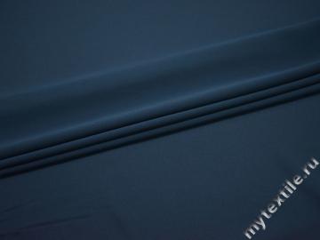 Плательная синяя ткань полиэстер БА7109