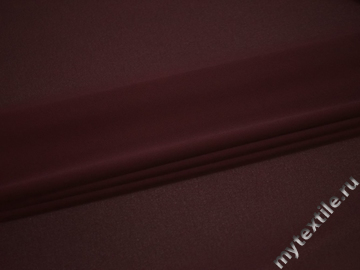 Плательная бордовая ткань полиэстер БА7111