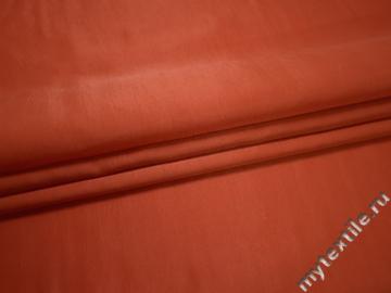 Плательная оранжевая ткань полиэстер ББ675