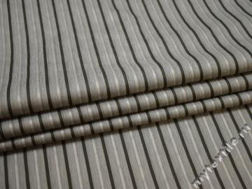 Рубашечная серая ткань полоска вискоза полиэстер БГ1113