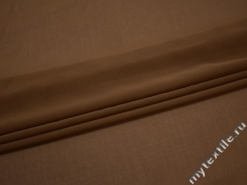 Шифон коричневый полиэстер ГБ340