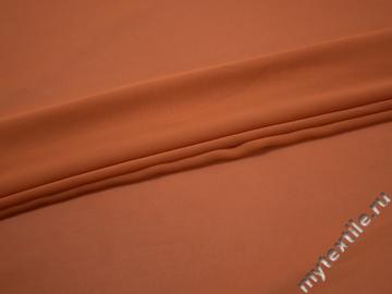 Шифон однотонный оранжевый полиэстер ГБ339