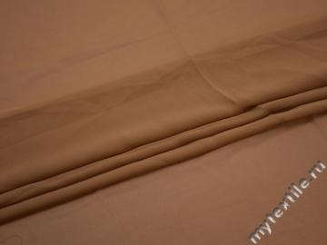 Шифон коричневый полиэстер ГБ378