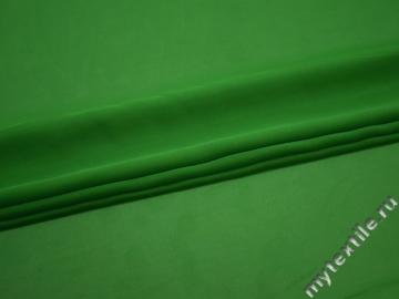 Шифон зеленый полиэстер ГБ3128