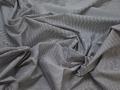 Рубашечная белая синяя ткань полоска вискоза полиэстер БГ472