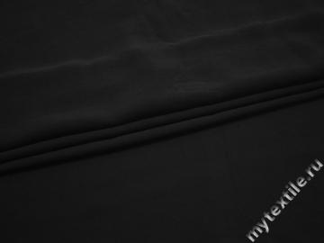 Плательная черная ткань полиэстер БА2122