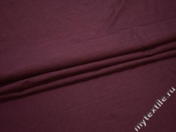 Плательная бордовая ткань шелк БА2126