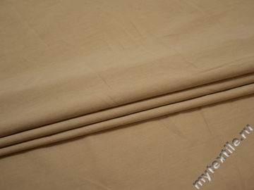 Рубашечная бежевая ткань вискоза эластан БВ255