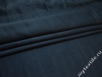 Плательная синяя ткань полиэстер БА2128
