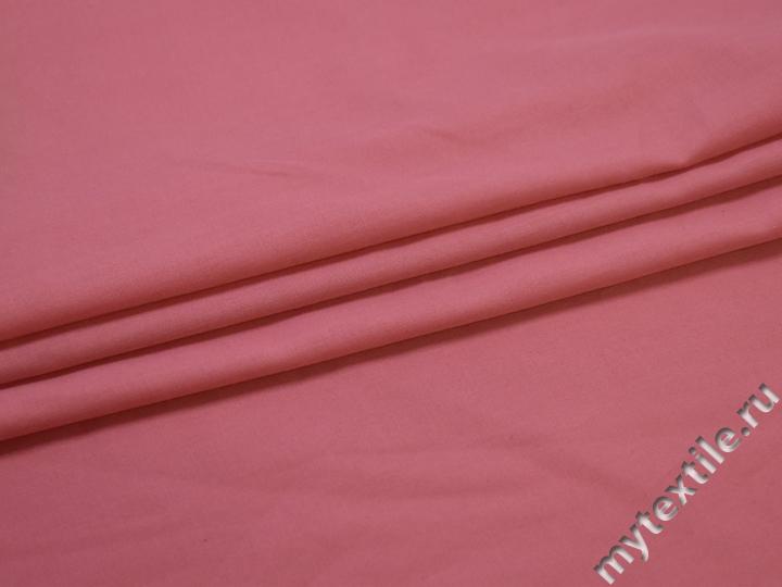 Рубашечная розовая ткань хлопок полиэстер БВ2106