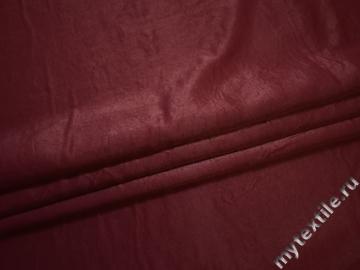 Плательная бордовая ткань полиэстер БВ682