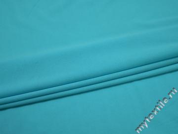Трикотаж голубой полиэстер АД436