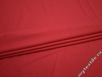 Трикотаж красный полиэстер АД423