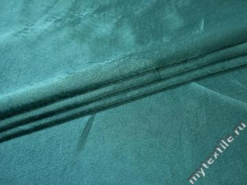 Креп-сатин бирюзовый полиэстер ГБ1139