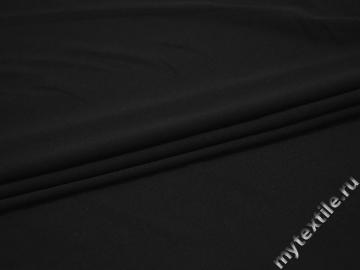 Трикотаж черный полиэстер АК670
