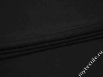 Трикотаж черный вискоза хлопок АМ416