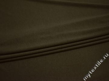 Трикотаж цвета хаки вискоза хлопок АГ329