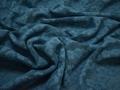 Кружево синее цветы хлопок БА568