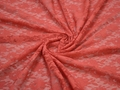 Гипюр красный цветы полиэстер БД611