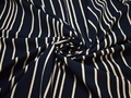 Вискоза синяя в полоску ЕБ415