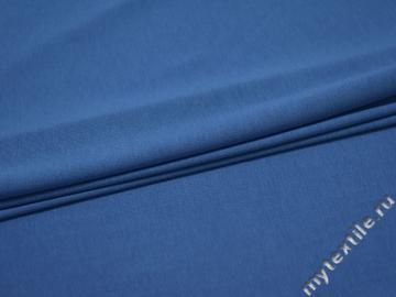 Трикотаж голубой вискоза хлопок АГ464