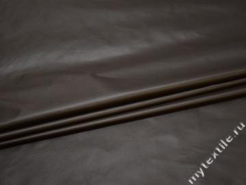 Курточная коричневая ткань полиэстер ДЁ389