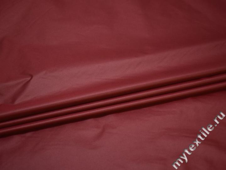 Курточная бордовая ткань полиэстер ДЁ388
