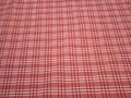 Курточная красная белая ткань полоска клетка полиэстер ДЁ370